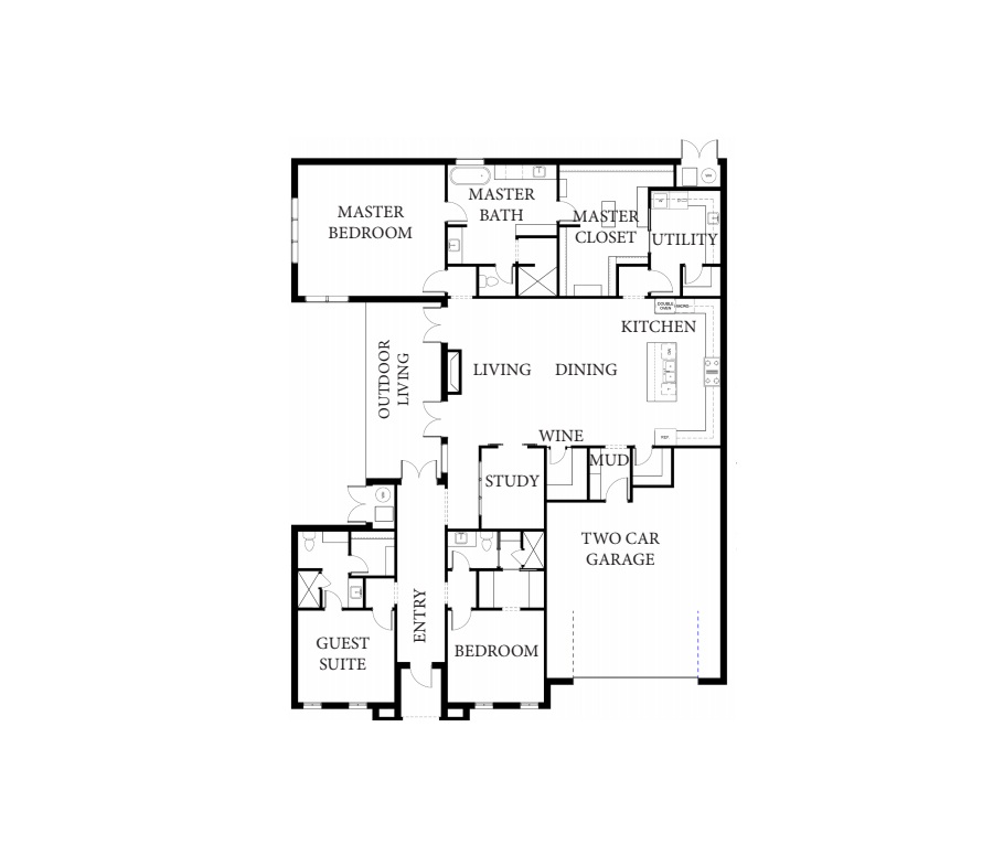 Gentry French Floorplan