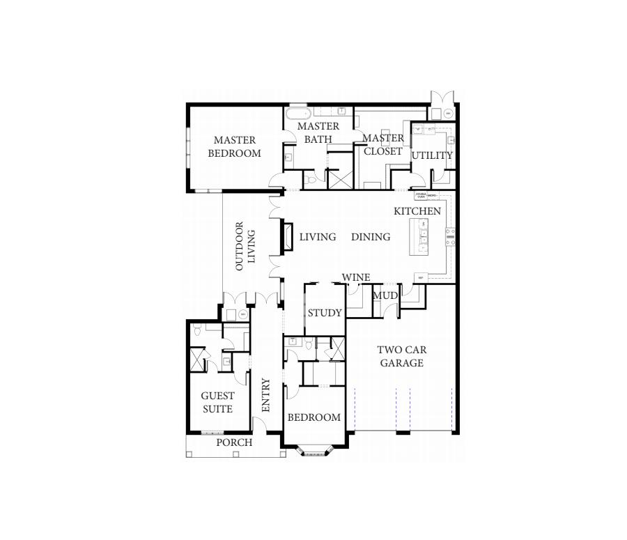 Gentry Transitional Floorplan