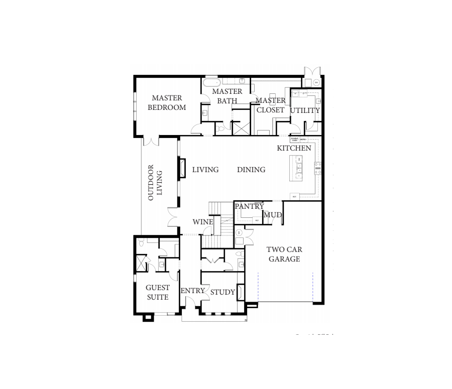 Surrey Contemporary Floorplan