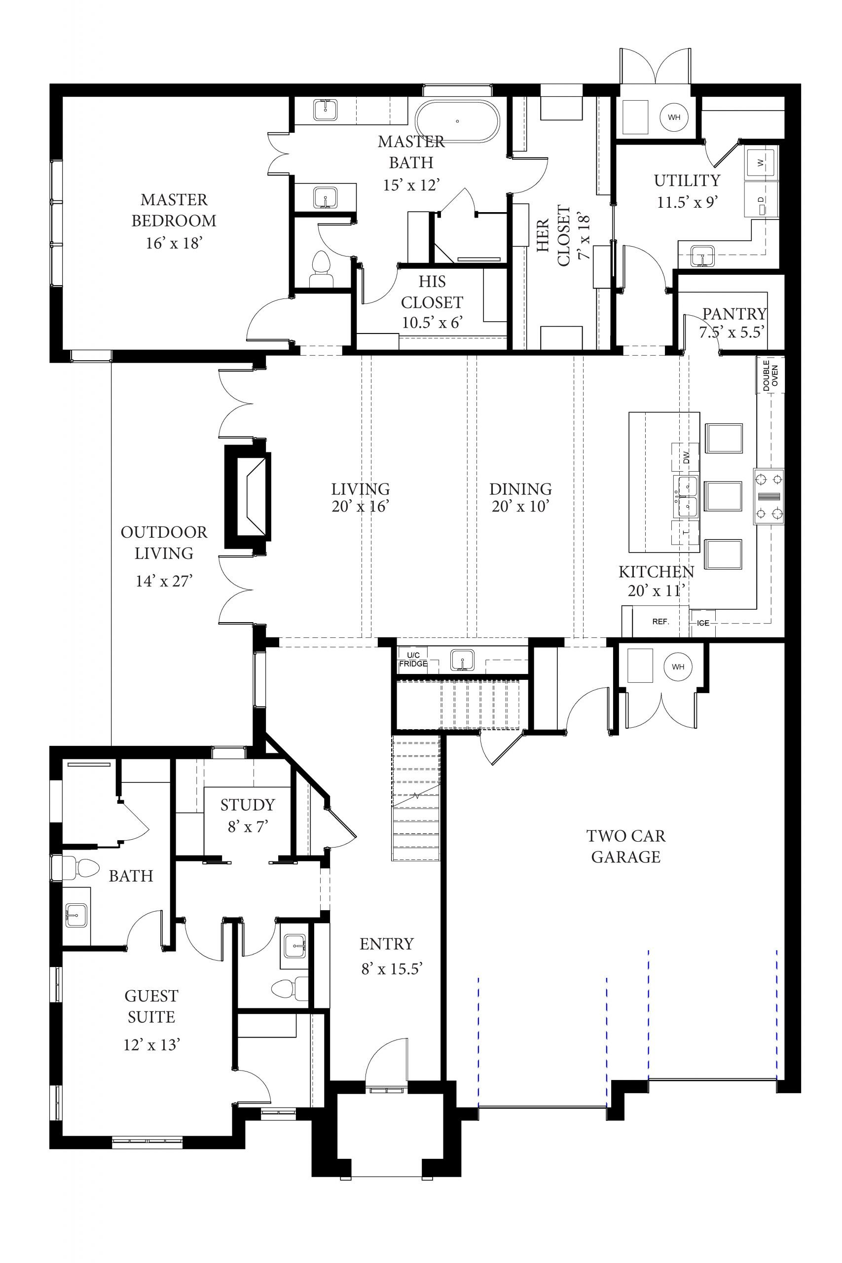 15605 Woodleaf - Miramont - Floor Plan Updated