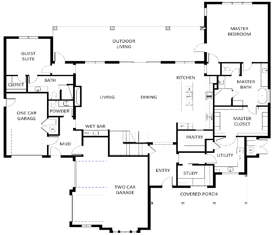 800 Turnberry Floorplan 1st floor