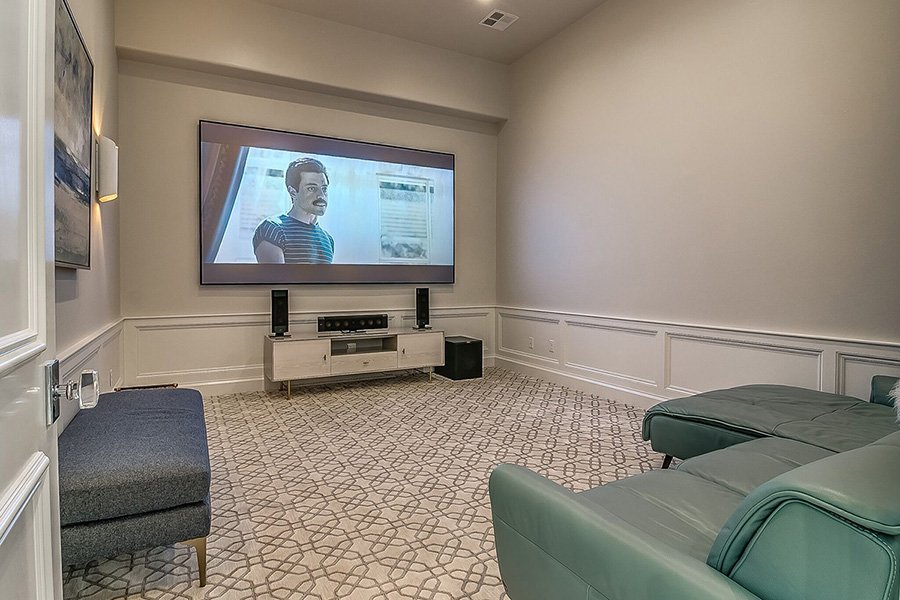 Media and Theater Room Trends in Edmond's New Home  Builds