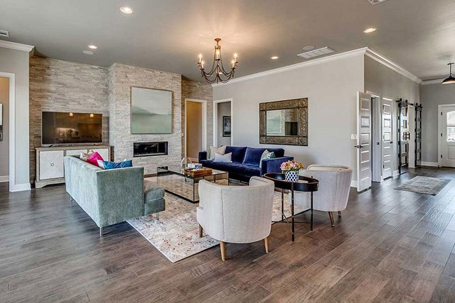 Transitional New Home Style Trends in Edmond's New Home  Floor plans