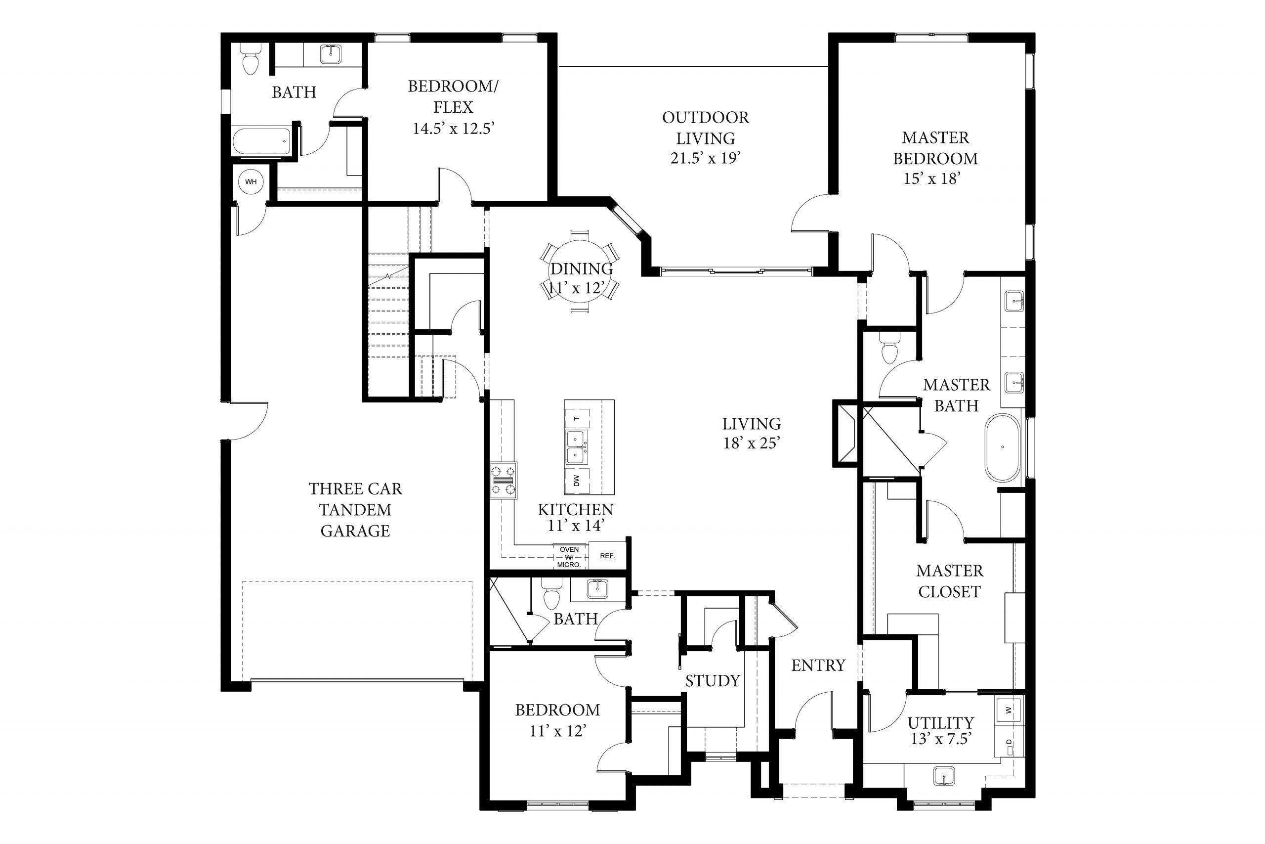 2132 Pallante Bradford Spec Floor Plan