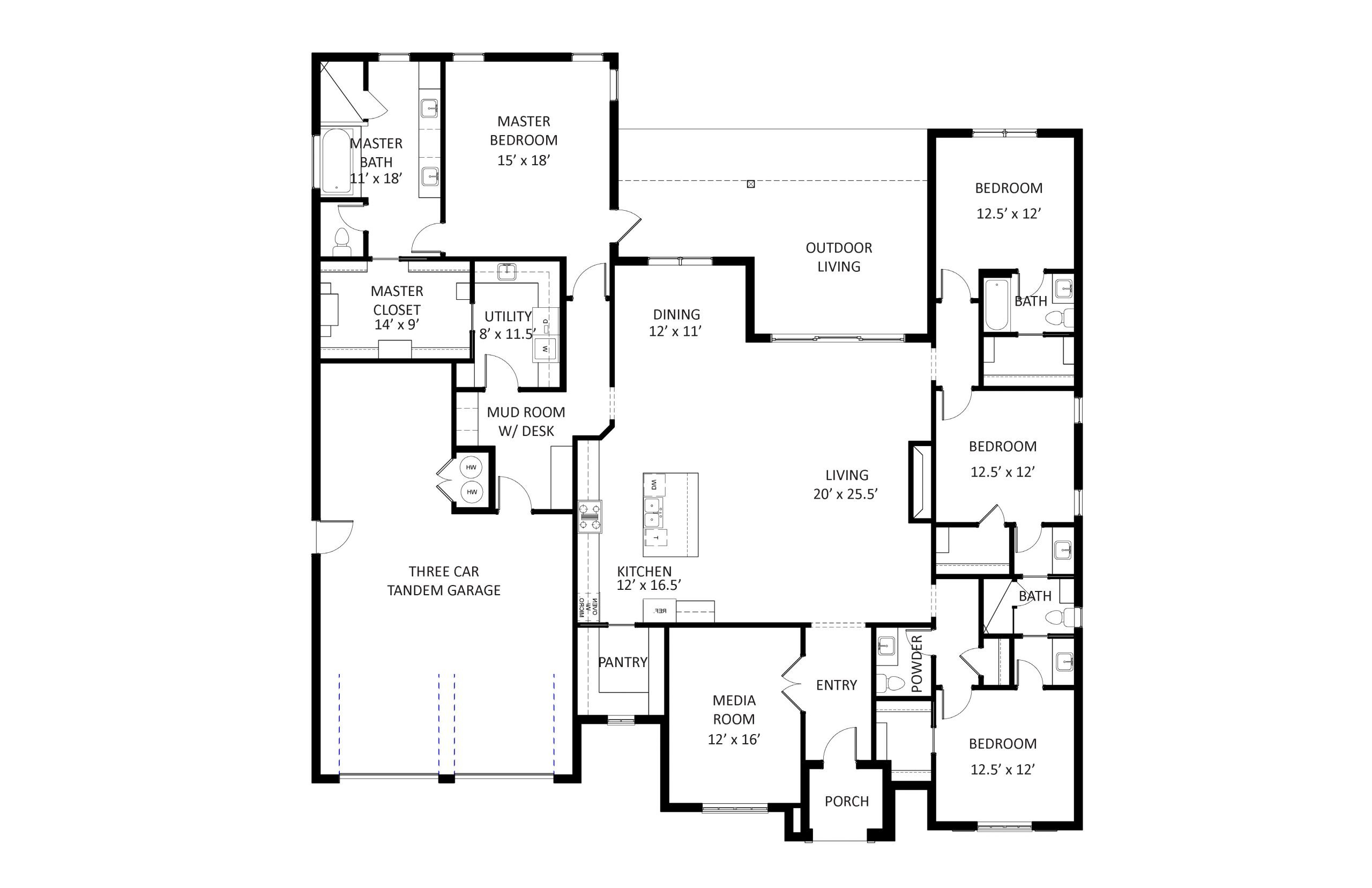 2908 Gold Finch Floor Plan Labeled