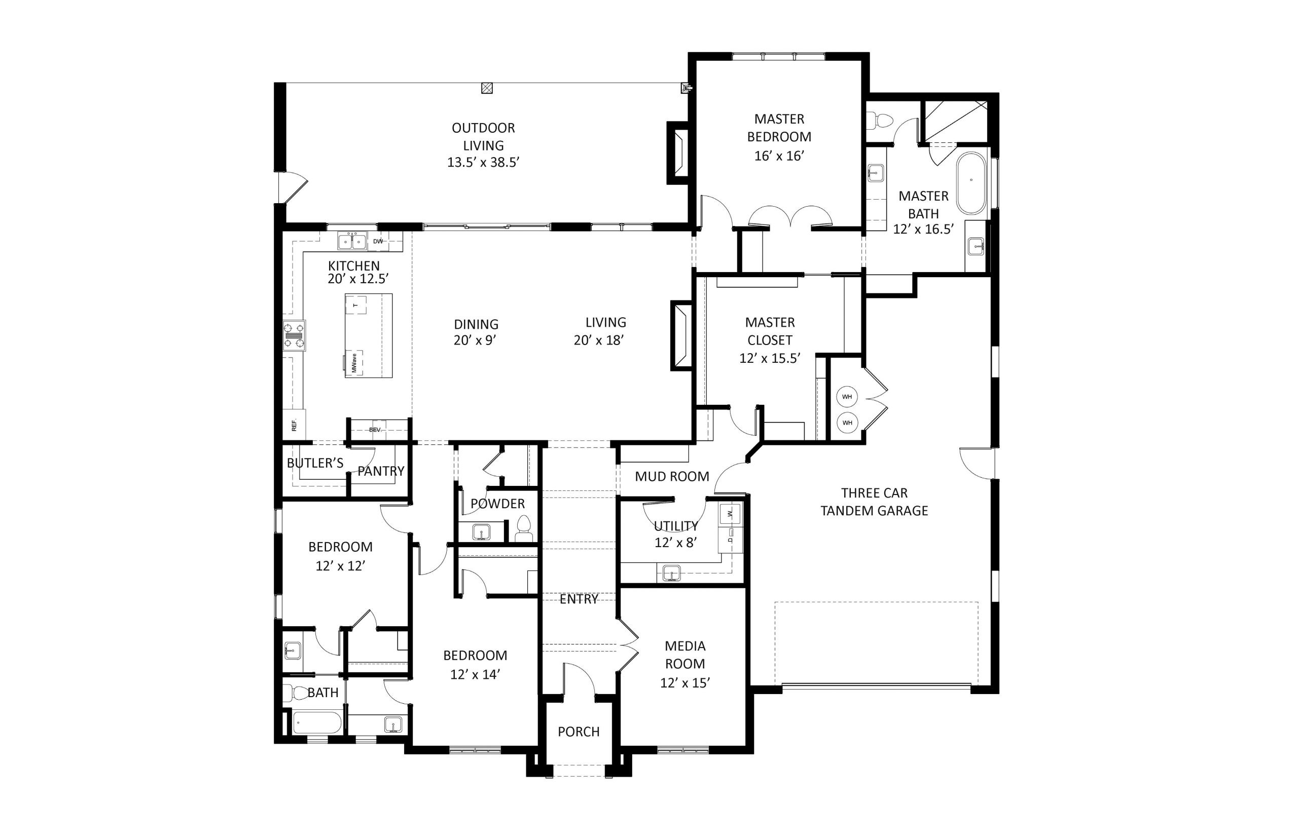 The Murphy Floor Plan Labeled