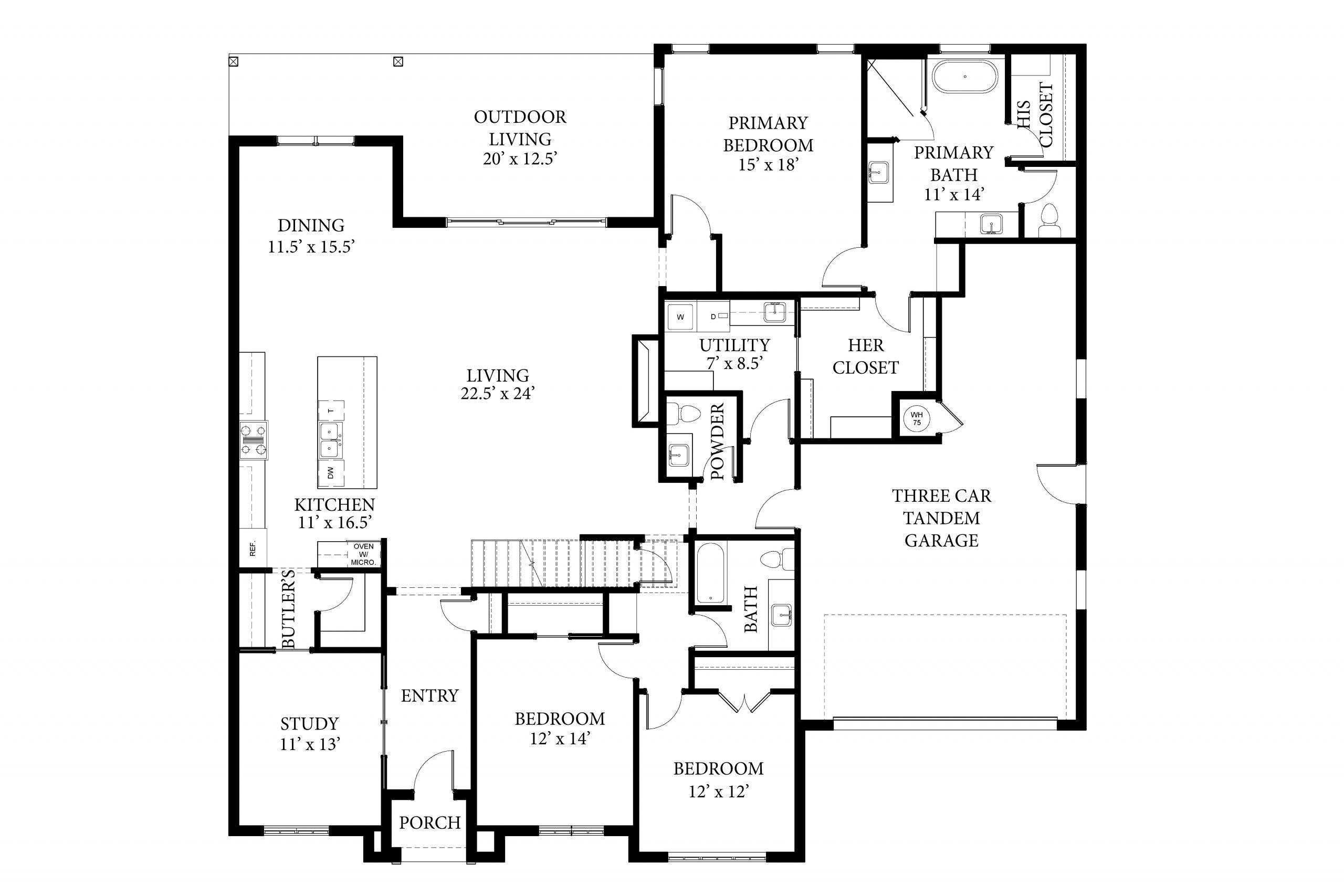16405 Loire West - Dawson - Floor Plan (1)