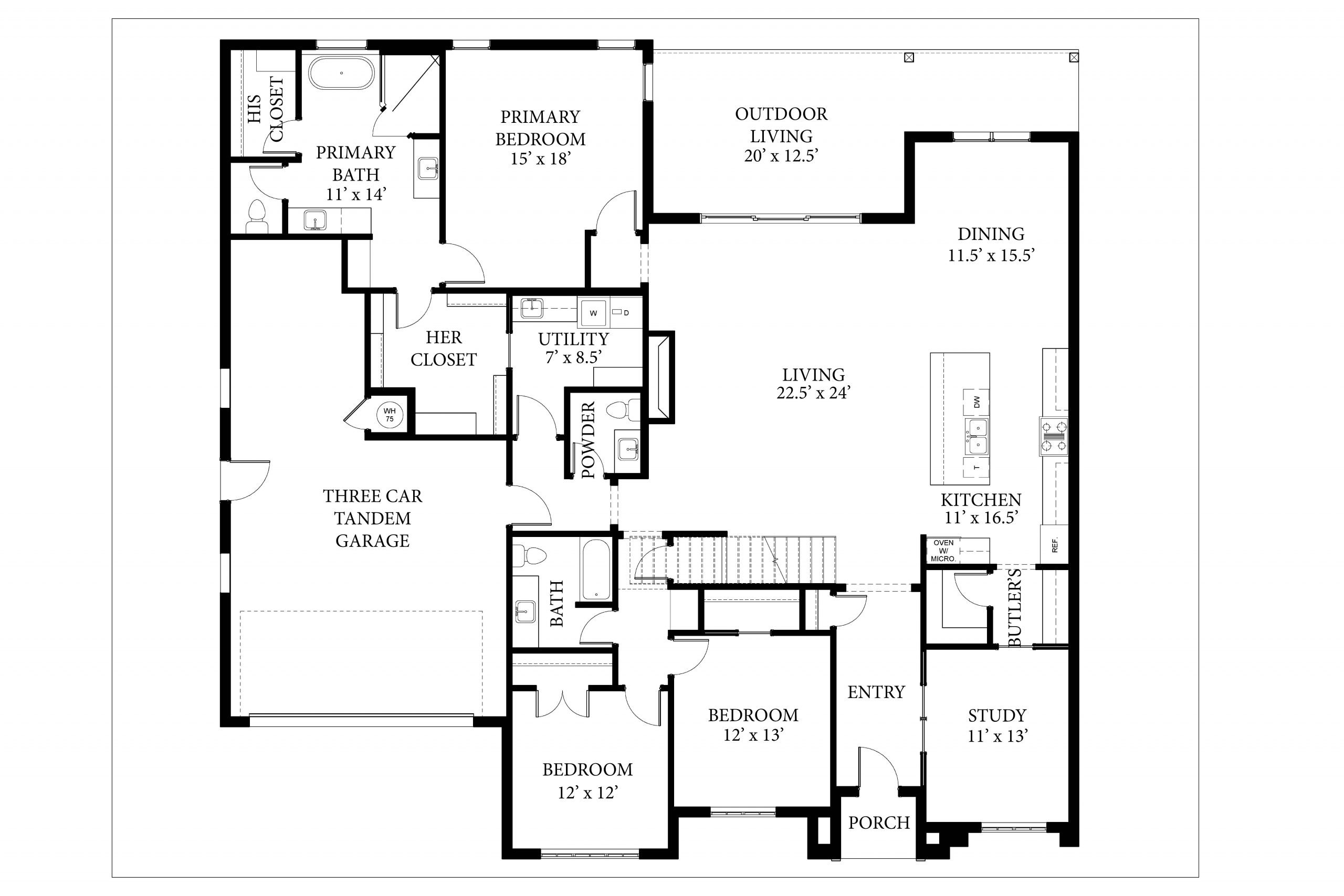 16408 Loire East - Dawson - Floor Plan