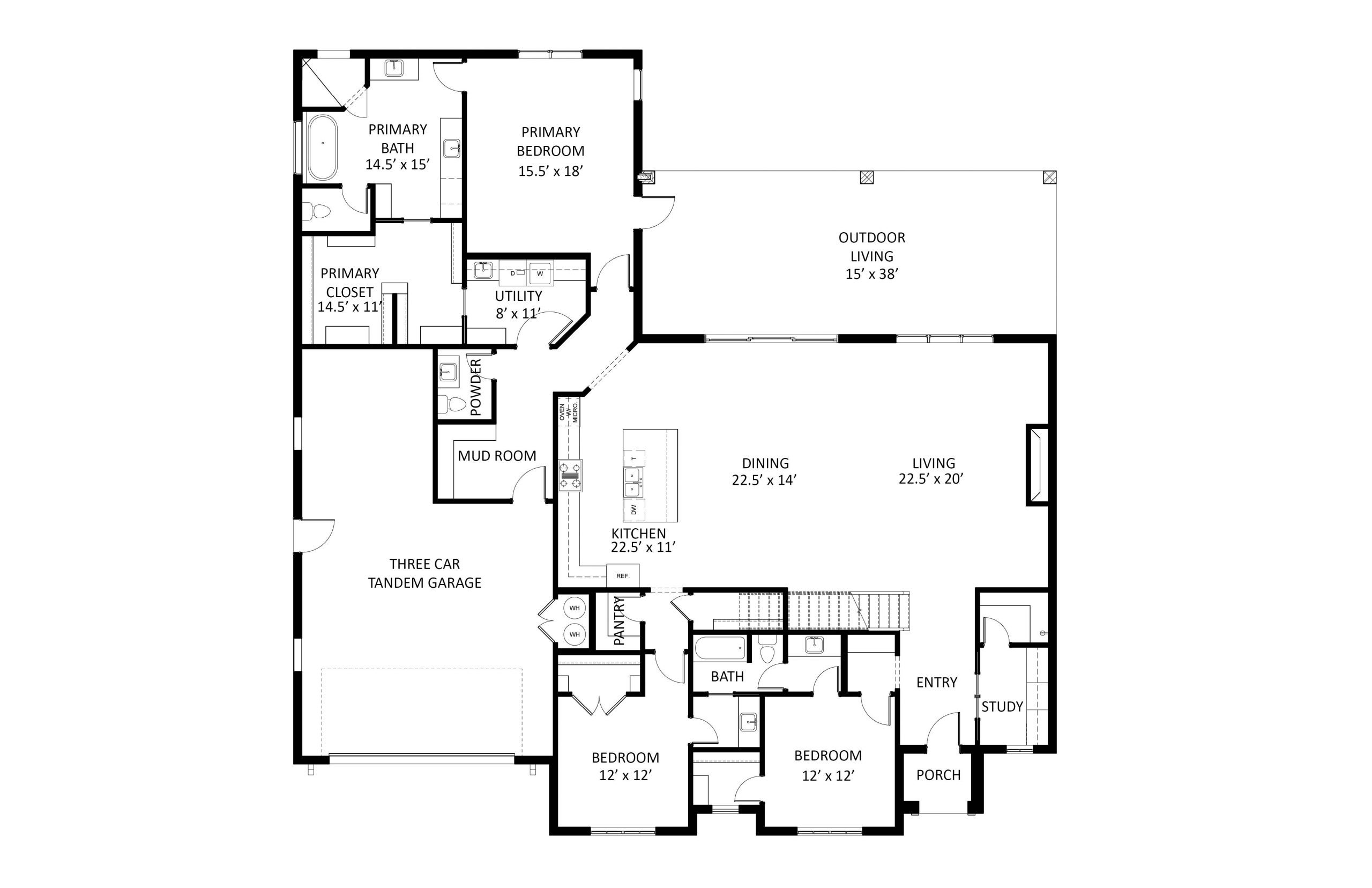 3009 Gold Finch Floorplan Labeled