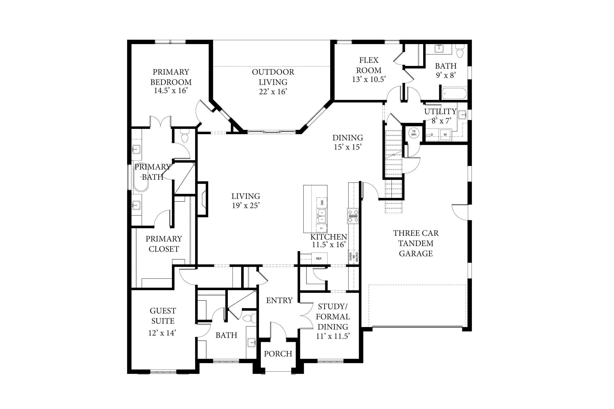 16409 Loire West Hudson Floor Plan