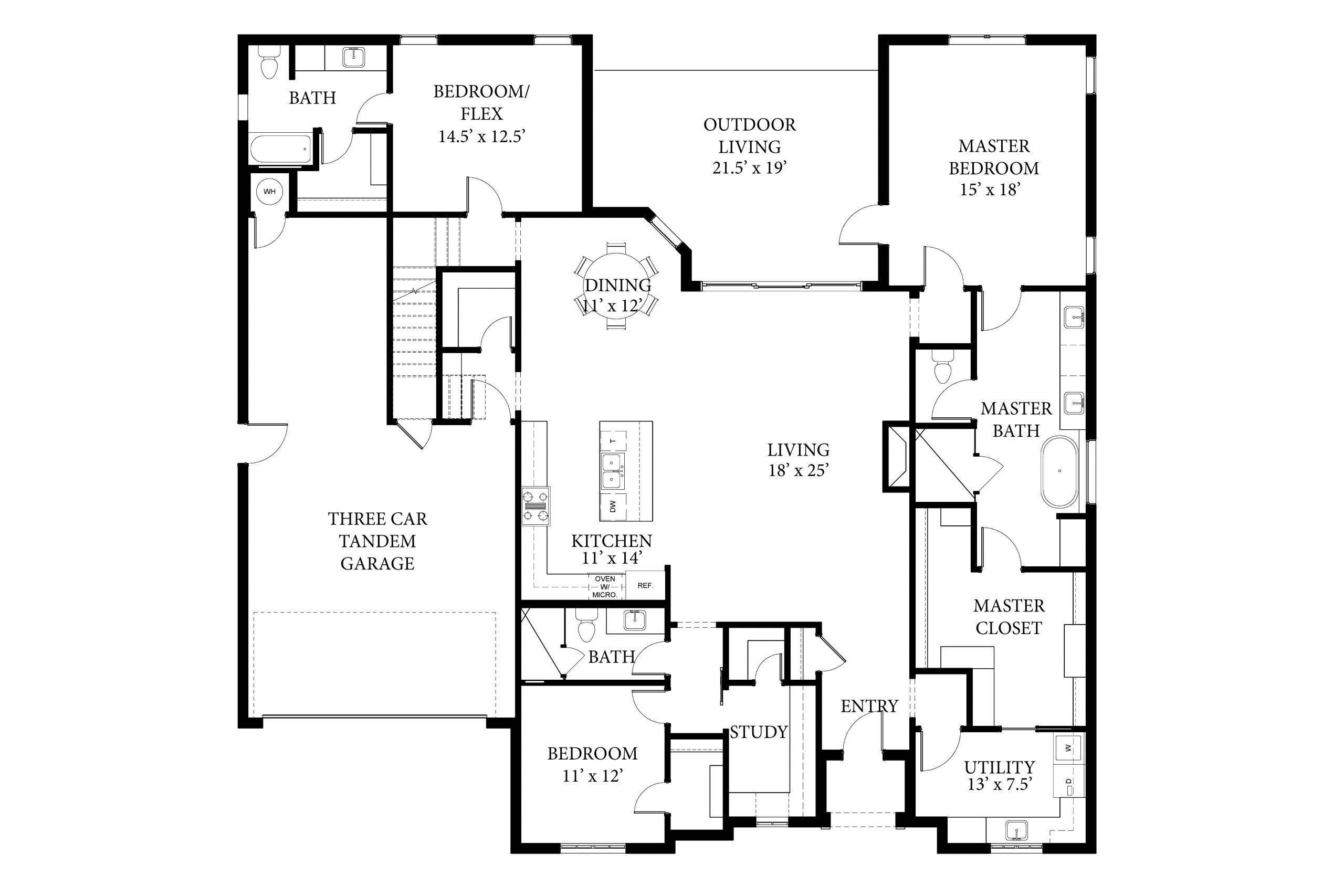 2225 Pallante Bradford Spec Floor Plan