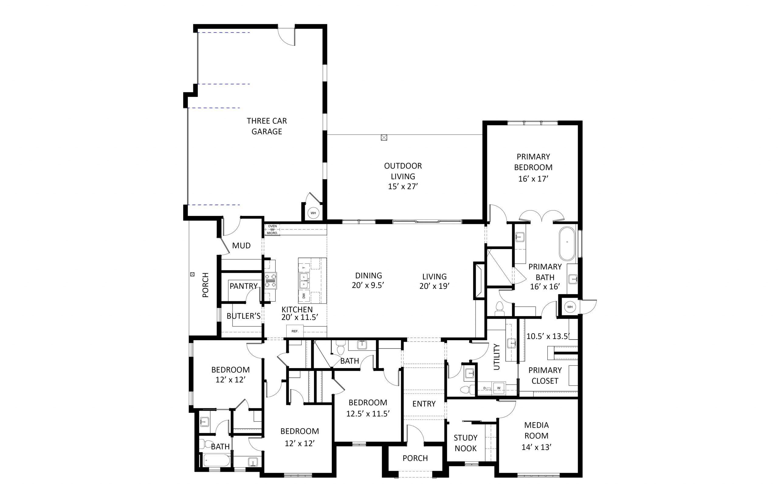 2901 Wood Thrush Floor Plan Labeled