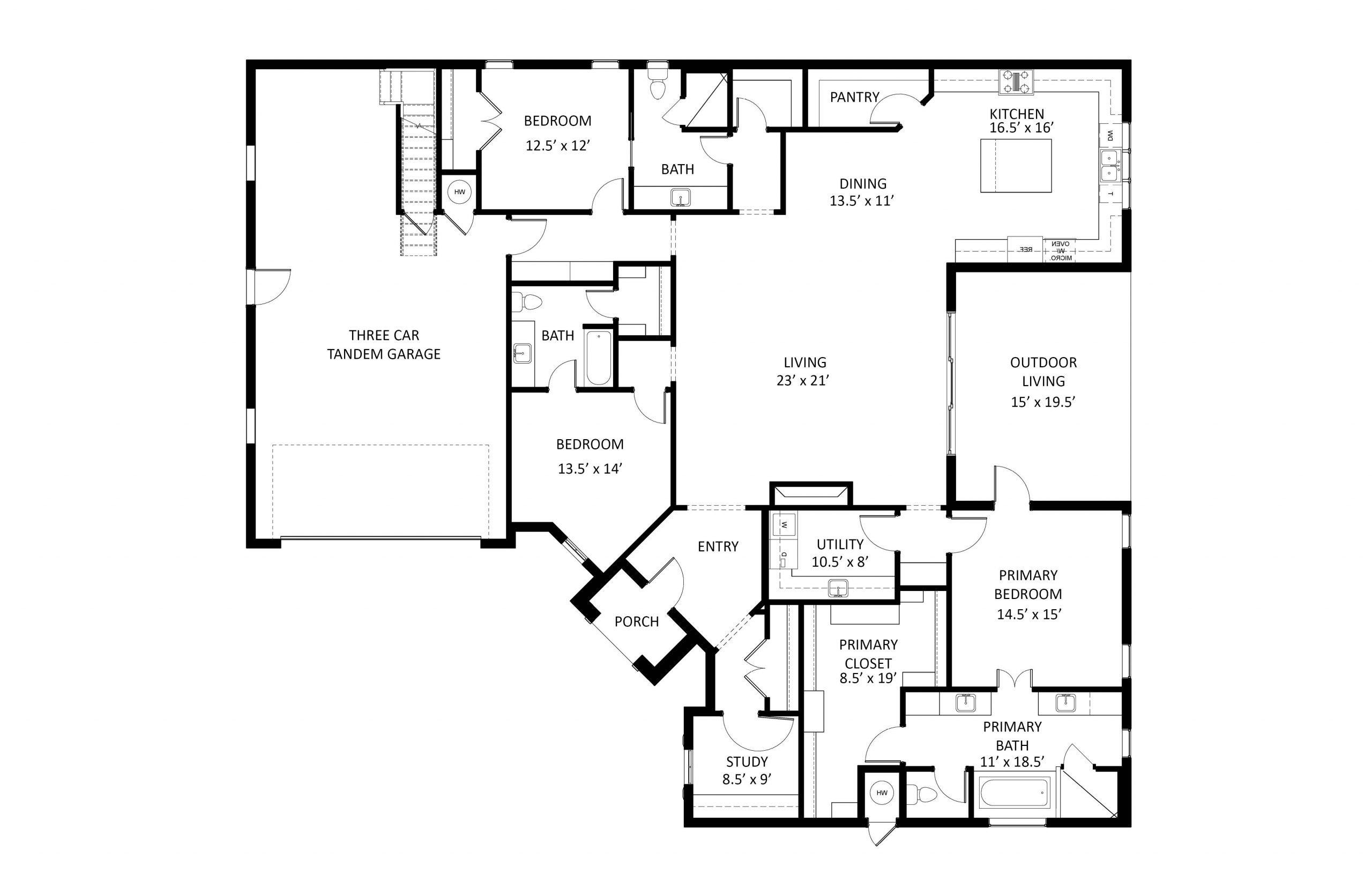 16424 Chablis - Corner - Labeled Floor Plan