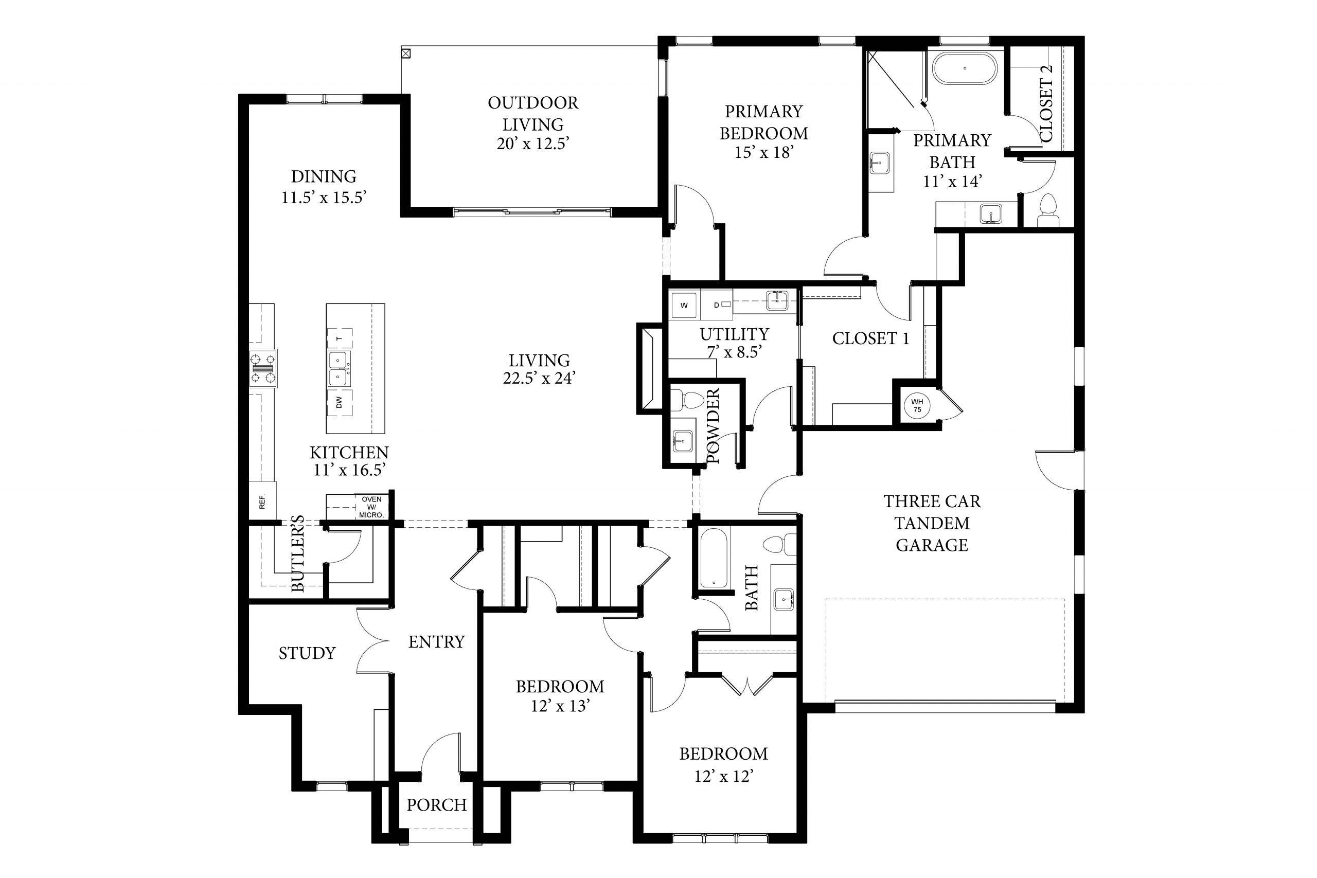 16429 Rhone - Dawson - Floor Plan
