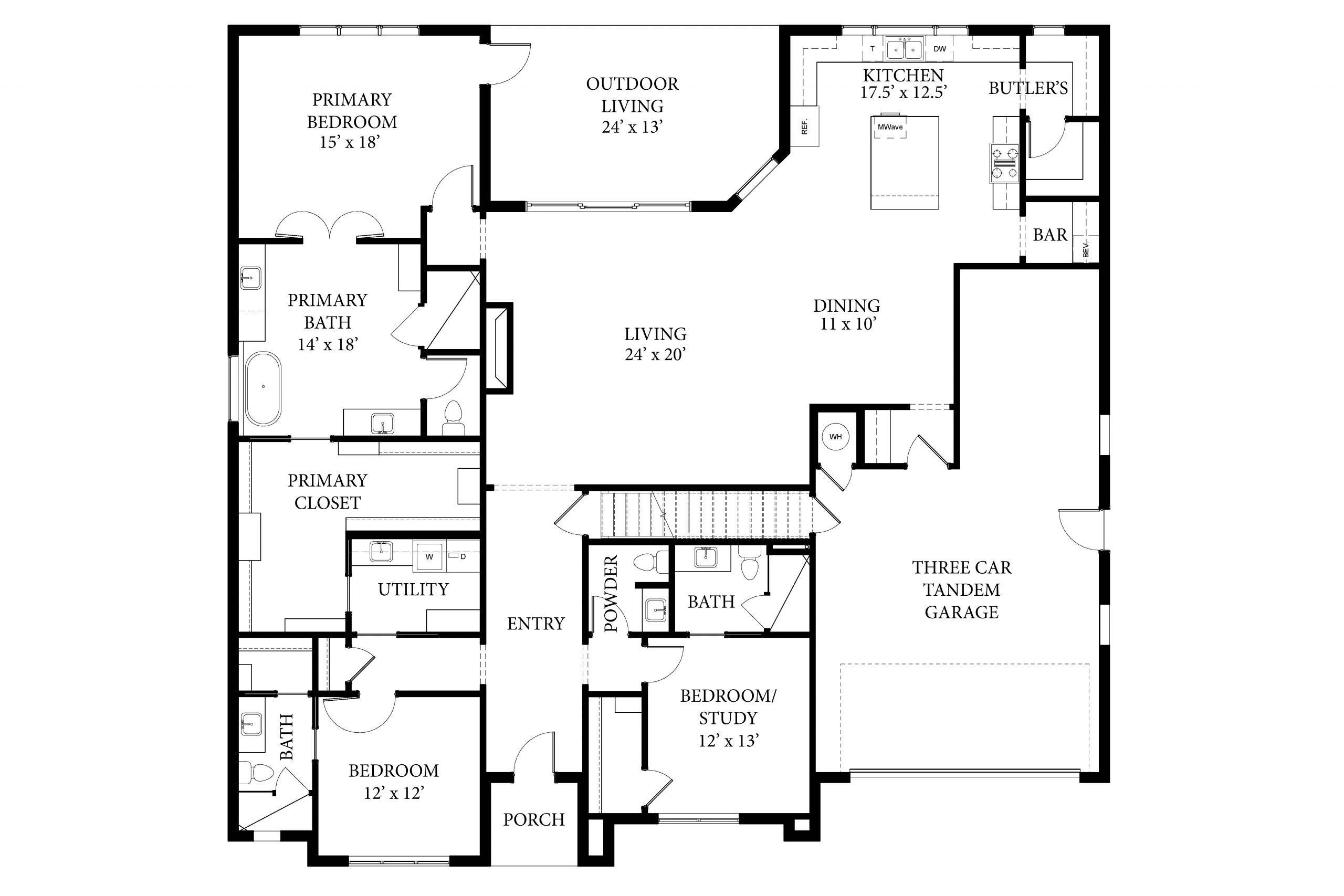 Whitney II Floor Plan