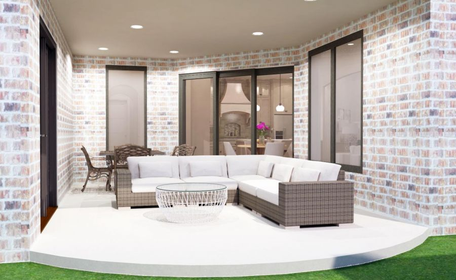 Covered Patio Rendering