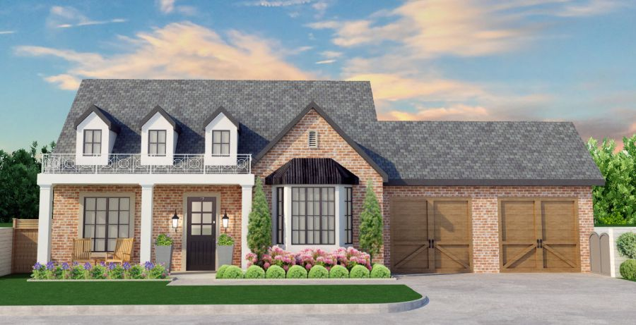 The Gentry Transitional Floor Plan