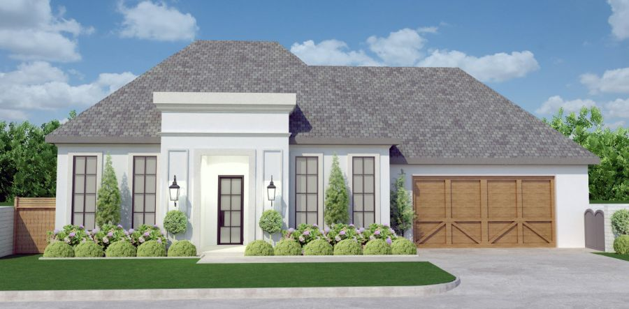 The Gentry French Floor Plan