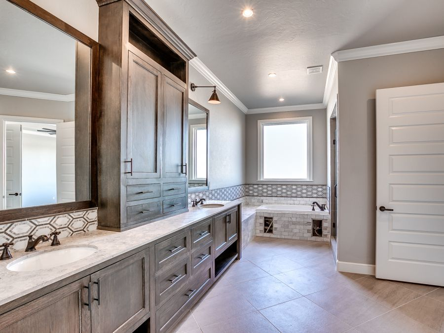 Master bathroom with beautiful large tub and shower.