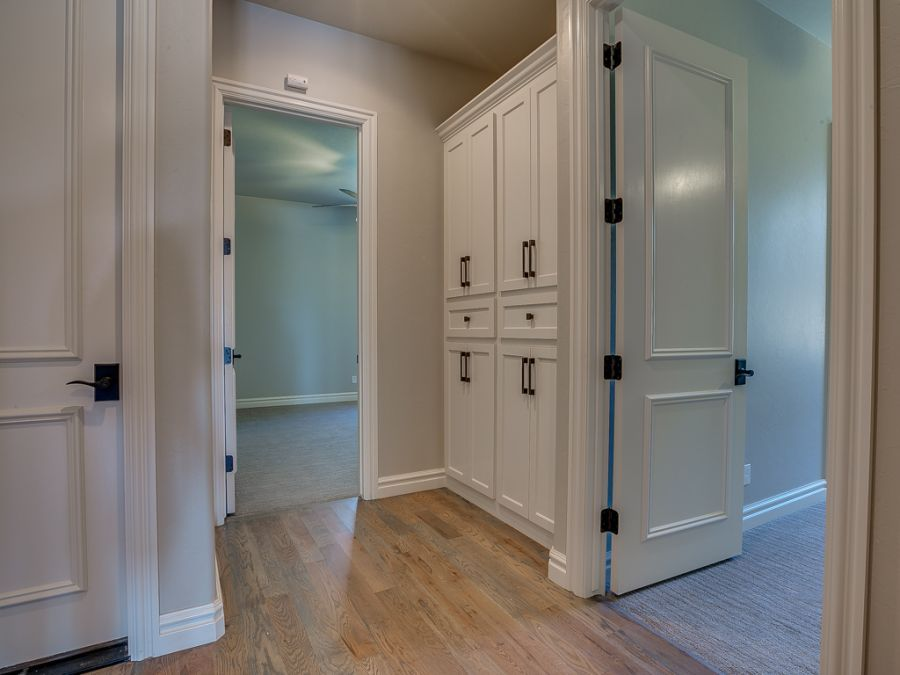 Garage entryway near bedrooms of the home for easy access.