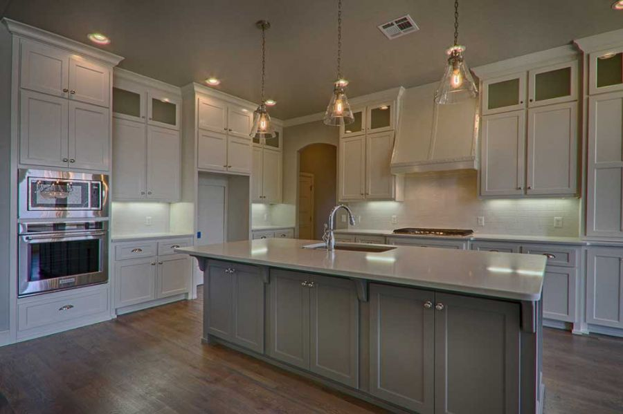 Beautiful kitchen with plenty of cabinet and counter top space.