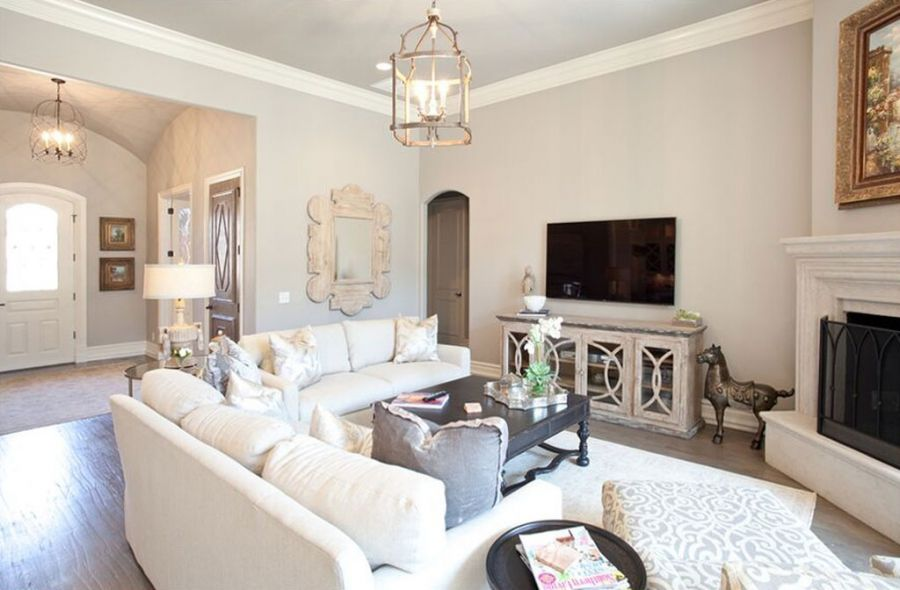 Custom Luxury Living Rooms, New Home Photo Galleries OKC
